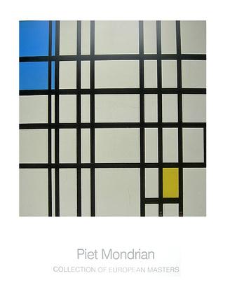 Piet Mondrian Rhythmus aus schwarzen Linien