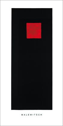 Kazimir Malevich Rotes Quadrat auf Schwarz
