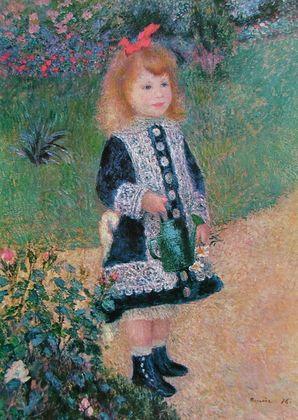 Pierre Auguste Renoir Maedchen mit Giesskanne  1876