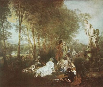 Watteau antoine das liebesfest large