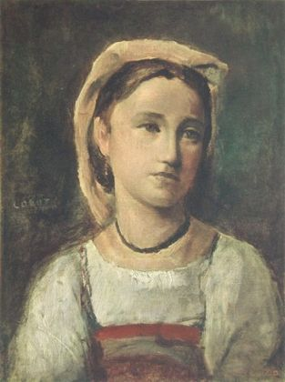 Jean Baptiste Camille Corot Junges Maedchen