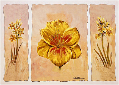 Katharina Schoettler 2er Set 'Yellow Composition in Three' + 'Red Composition in Three'