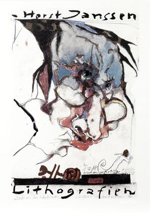 Horst Janssen Lithografien handsigniert