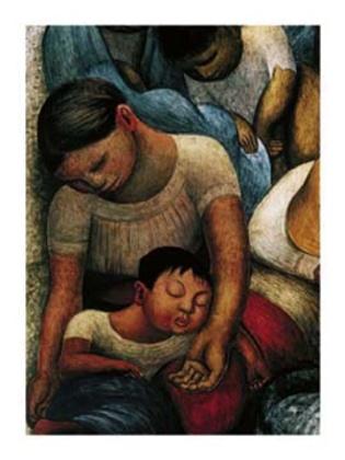 Diego Rivera La Noche de Los Pobres