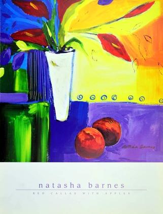 Natasha Barnes Rote Calla mit Aepfeln