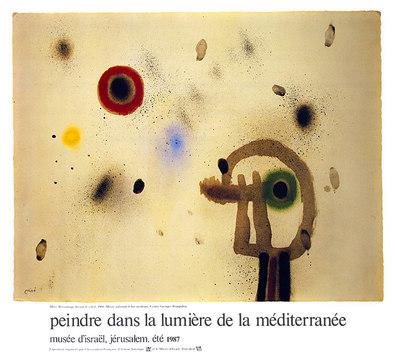 Joan Miro Figur vor Sonne, 1960