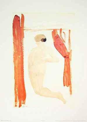 August Rodin Femme nue dur le dos jambes ecart ees D1535