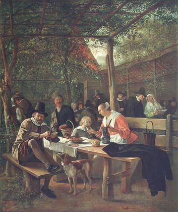 Jan Steen Der Wirtshausgarten