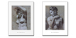 Pierre Paul Prudhon 4er Set 'Academie de Femmes en Bust I + II' + 'Femme a la Lampe' + 'Academie de Femme'
