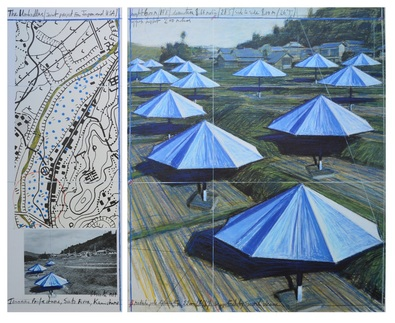 Christo Umbrella Blue II