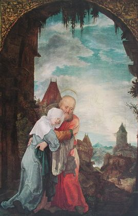Wolf Huber Begegnung Joachims mit Anna