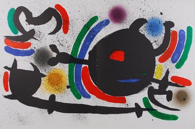 Joan Miro Litografia Original X