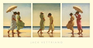 Jack Vettriano Summer Days Triptych