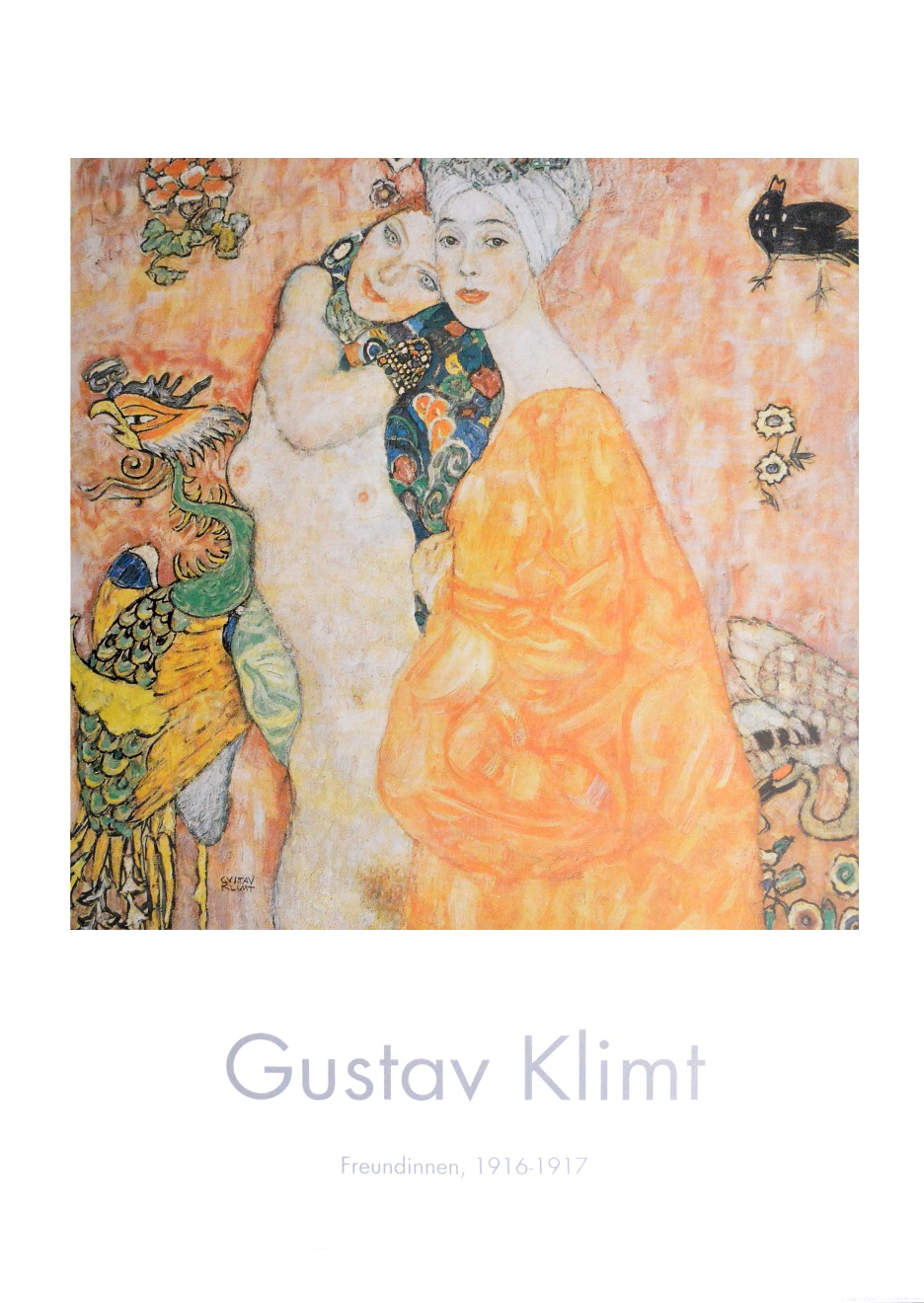 gustav klimt freundinnen poster kunstdruck bild 100x70cm. Black Bedroom Furniture Sets. Home Design Ideas