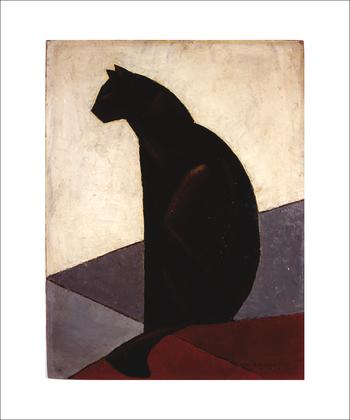 M-Louis Baugniet Chat noir de profil, 1924