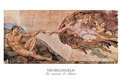 Michelangelo La creazione di Adamo