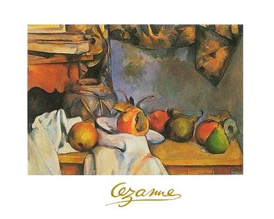 Paul Cezanne Stillleben mit Vase und Schale mit Fruechten