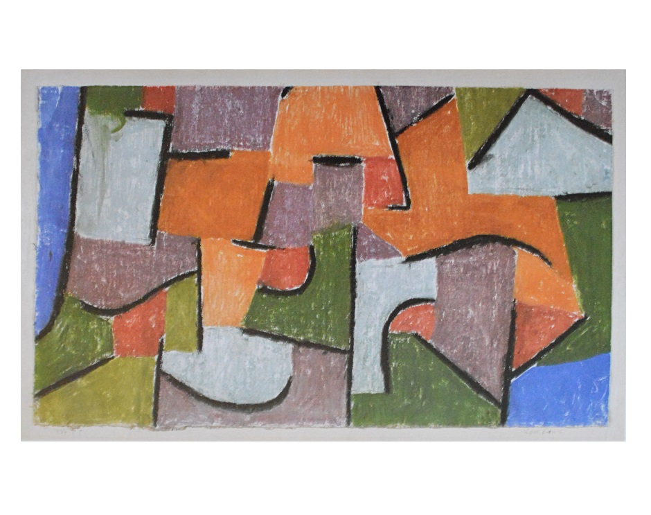 paul klee ber land poster kunstdruck bild 60x80cm ebay. Black Bedroom Furniture Sets. Home Design Ideas
