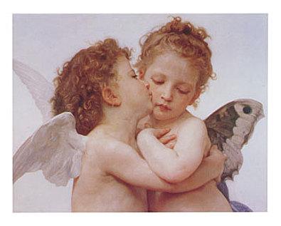 William Bouguereau The first Kiss