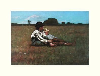 Homer Winslow Zwei Jungen auf einer Weide