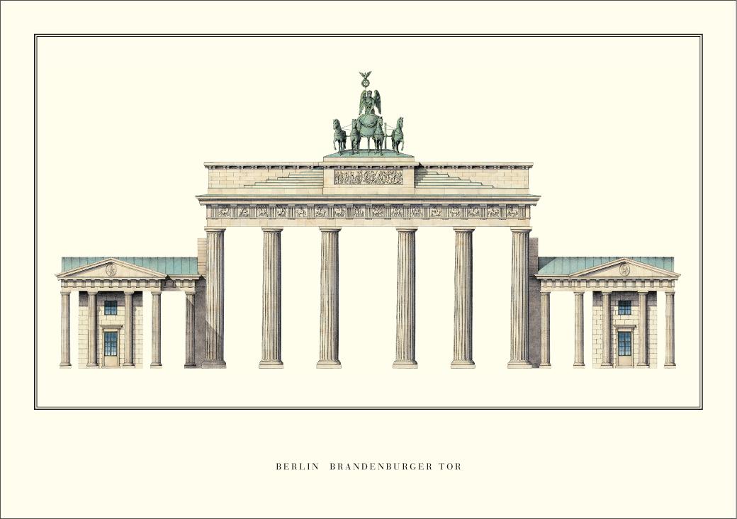 Carl Gotthard Langhans Berlin Brandenburger Tor Architektur Plakat Poster Kunstdruck Bei Germanposters De