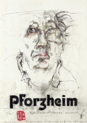 Horst Janssen Pforzheim Selbstportrait handsigniert