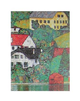 Gustav Klimt Haeuser in Unterach am Attersee