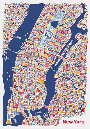 new york stadtplan poster vianina poster kunstdruck bei. Black Bedroom Furniture Sets. Home Design Ideas