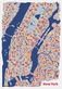 Stadtplan new york poster vianina medium