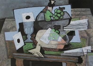 Georges Braque Stilleben mit Weintrauben und Klarinette