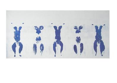 Yves Klein Anthropometrie. ohne Titel ANT 100 1960