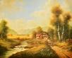 Pila Bauernhof mit Kuehen