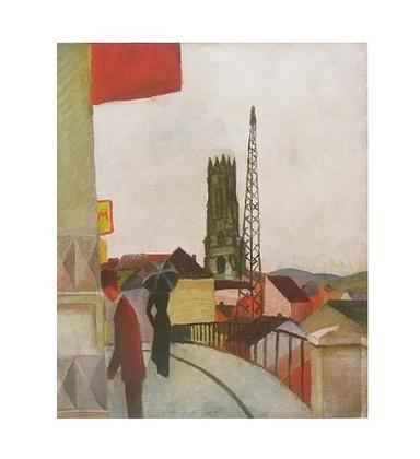 August Macke Kathedrale zu Freiburg in der Schweiz