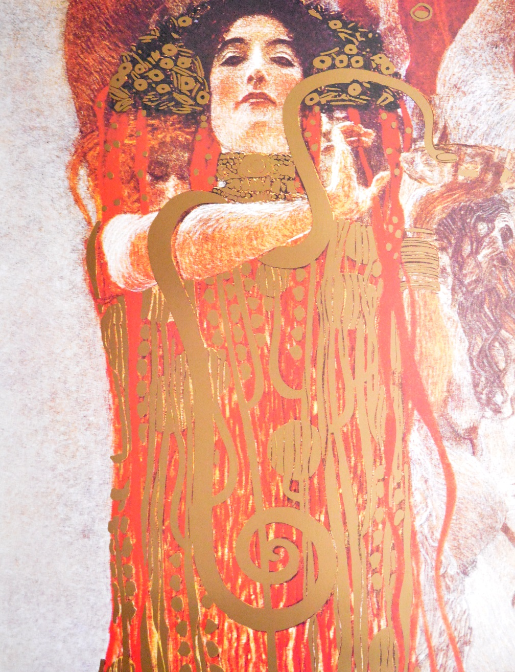 gustav klimt hygieia poster kunstdruck bild 80x60cm ebay. Black Bedroom Furniture Sets. Home Design Ideas