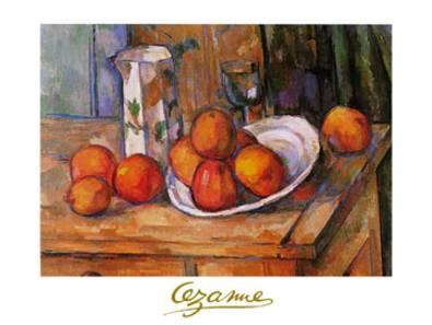 Paul Cezanne Bricco, bicchiere e piato