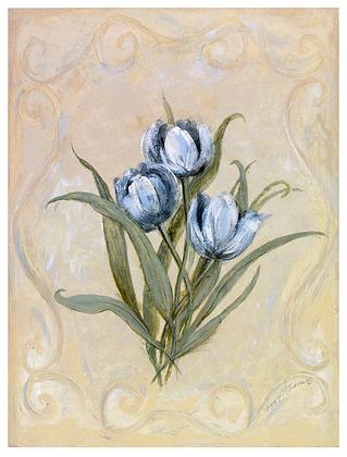 Peggy Abrams 2er Set 'Tulips Azure' + 'Roses Azure'