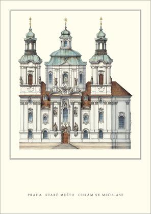 Kilian Ignaz Dientzenhofer Prag, Chram Sv.Mikulase