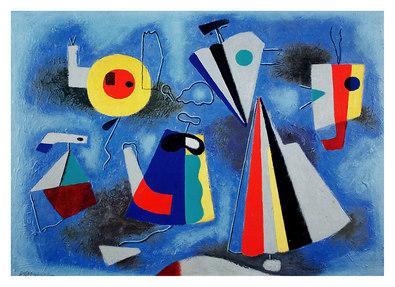 Willi Baumeister Formen auf blauem Grund