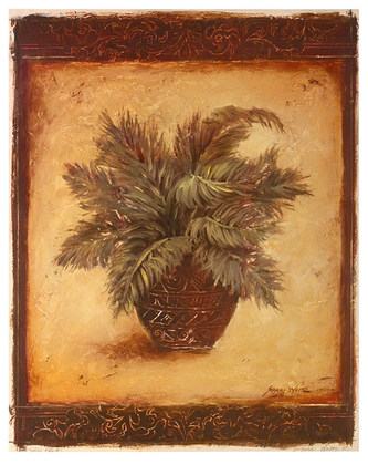 Shari White 2er Set 'Sago Palm' + 'Fern Palm'