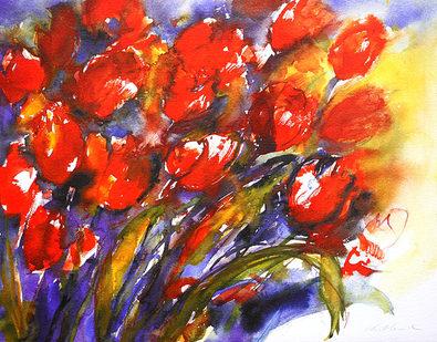Christa Ohland Rote Tulpen