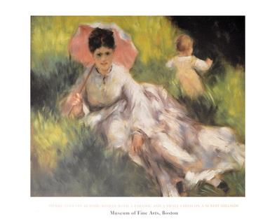 Pierre Auguste Renoir Dame mit Sonnenschirm
