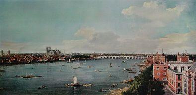 Giovanni Antonio Canaletto - Canale London mit Themse