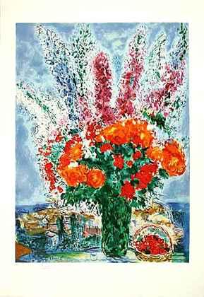 Marc Chagall Bouquet de Renoncules, Praegesig.