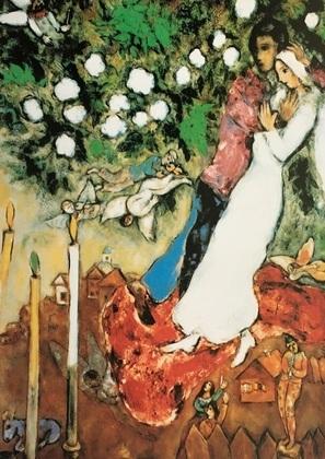 Marc Chagall Die drei Kerzen