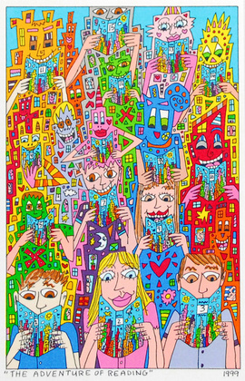 James Rizzi The Adventure Of Reading
