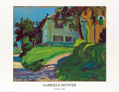 Gabriele Muenter Sommer 1908 Haus mit Apfelbaum