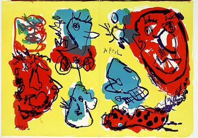 Karel Appel 74-63 (One Cent Life) zweiteilig