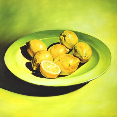 Michael Loeb Stilleben mit Zitronen