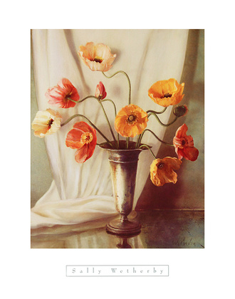 Sally Wetherby Poppies in Pewter