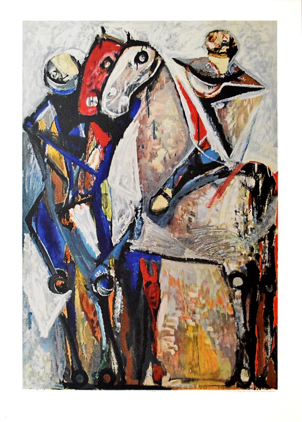 Marino Marini Zwei Reiter Poster Kunstdruck Bild Lichtdruck 89x62cm